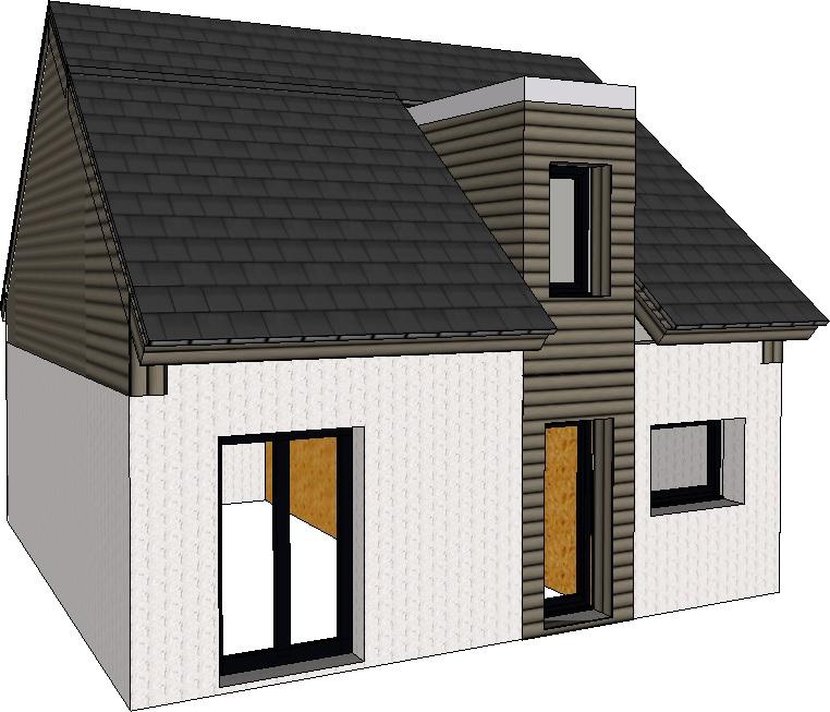 Maison a ossature bois en kit pas cher construire maisons en bois - Maison neuve pas cher en kit ...