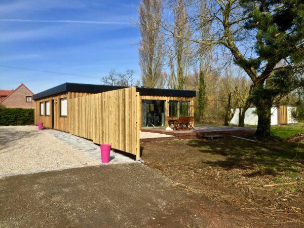 Loft avec terrasse Ossature bois maison en bois chalet Destombes habitat