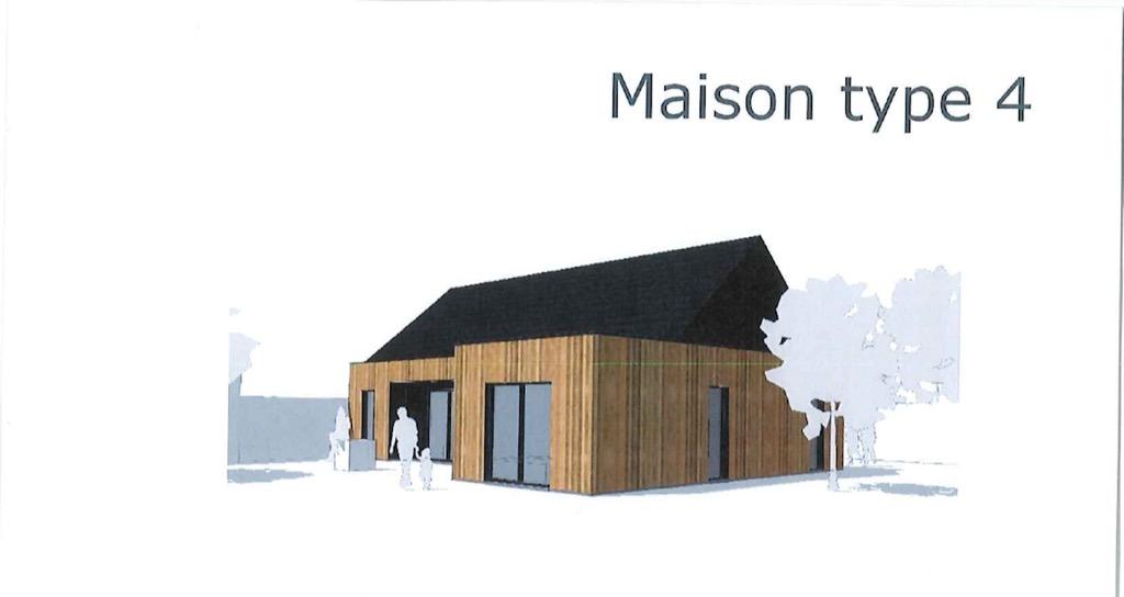Maison type 4.4 ossature bois et bardage vertical