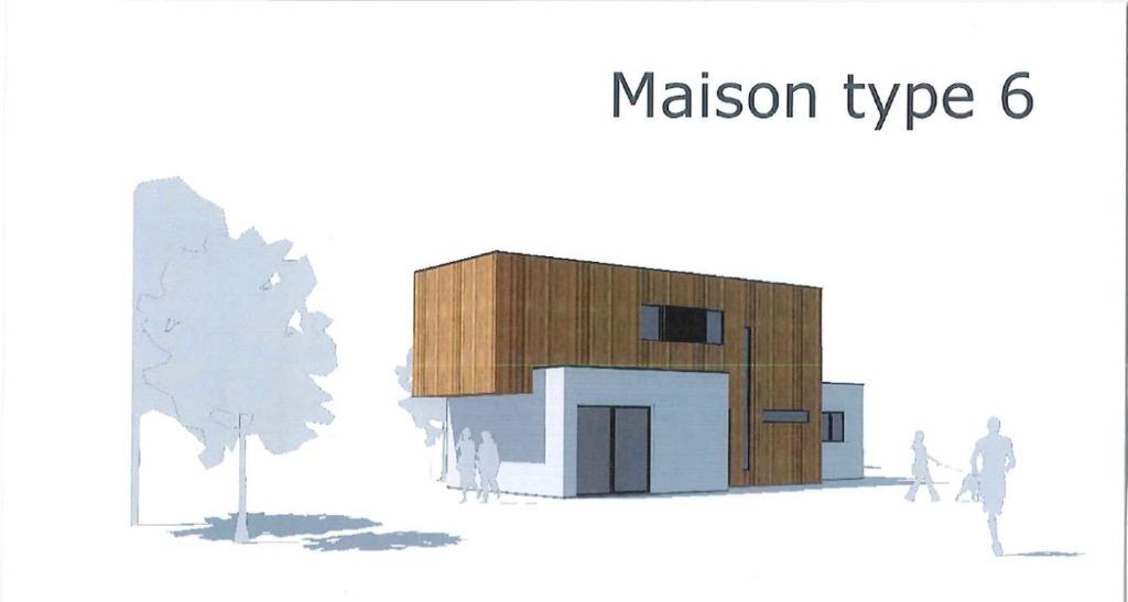 Maison type 6.3 bois contemporaine en ossature