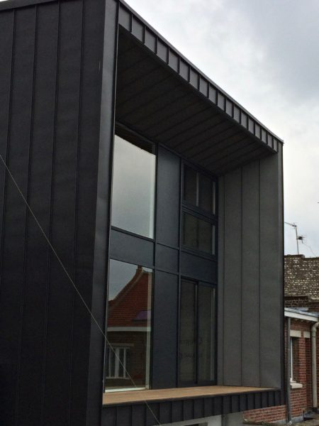 extension en Trespa sur maison mitoyenne