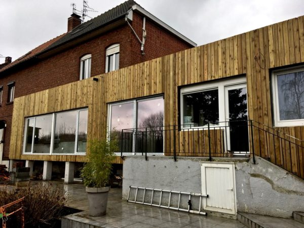 extension en bois surelevee