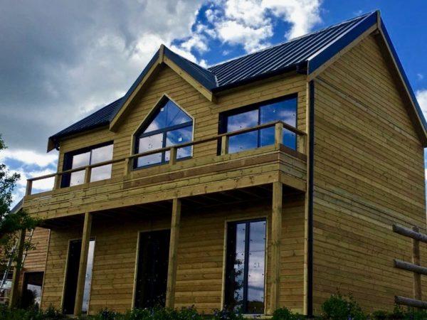 maison bois avec porche maison contemporaine