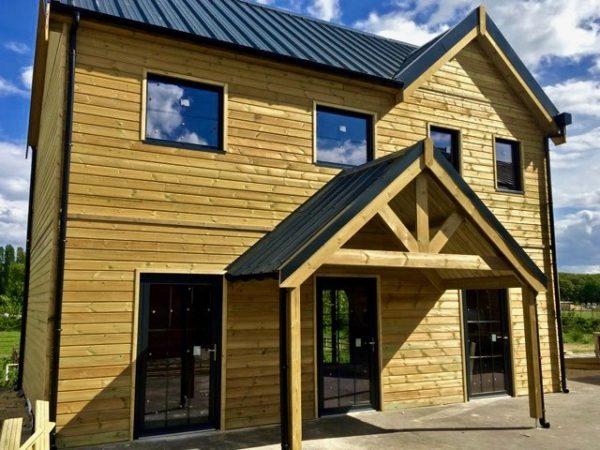 maison bois avec porche chalet montagne Destombes habitat