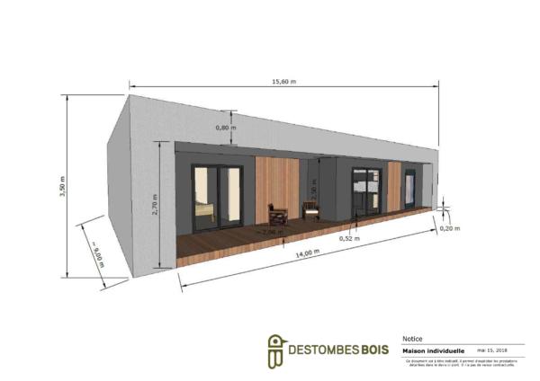 Quel est le prix au m2 d'une maison en bois?