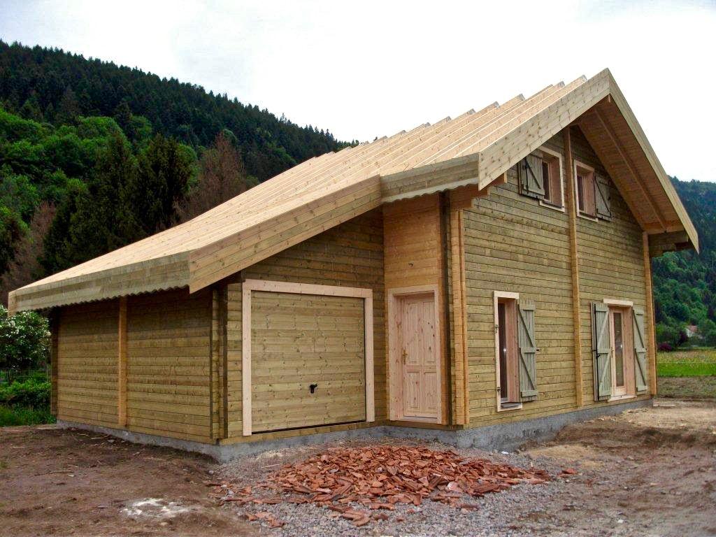 maison en madrier type montagne 2