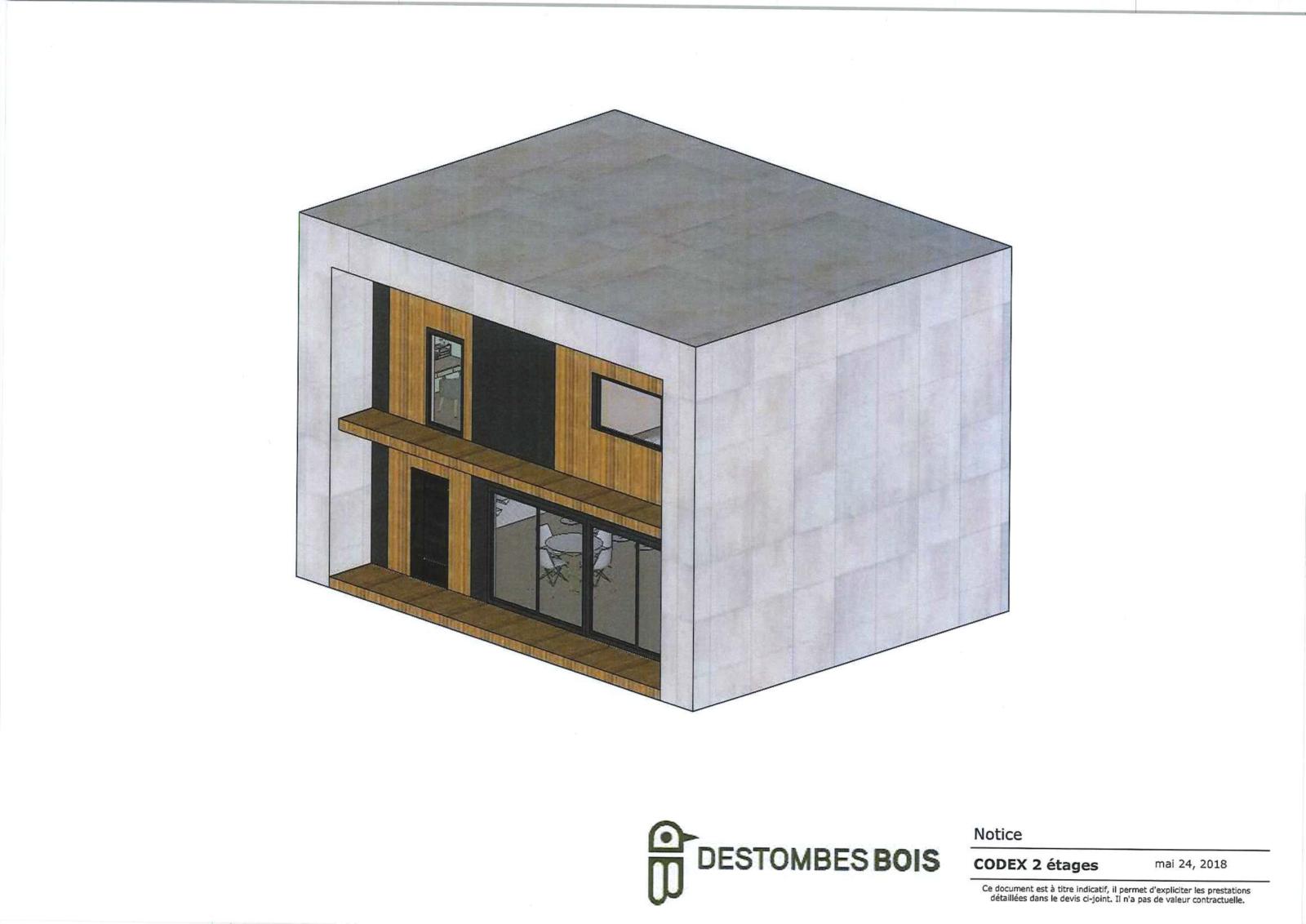 Maison moderne style cubique