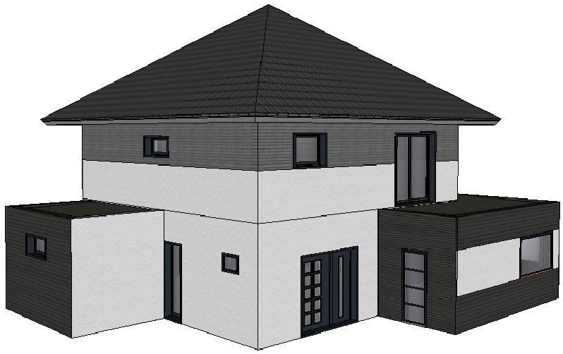 Maison de 150 m² – 3 chambres – Toit 4 pentes