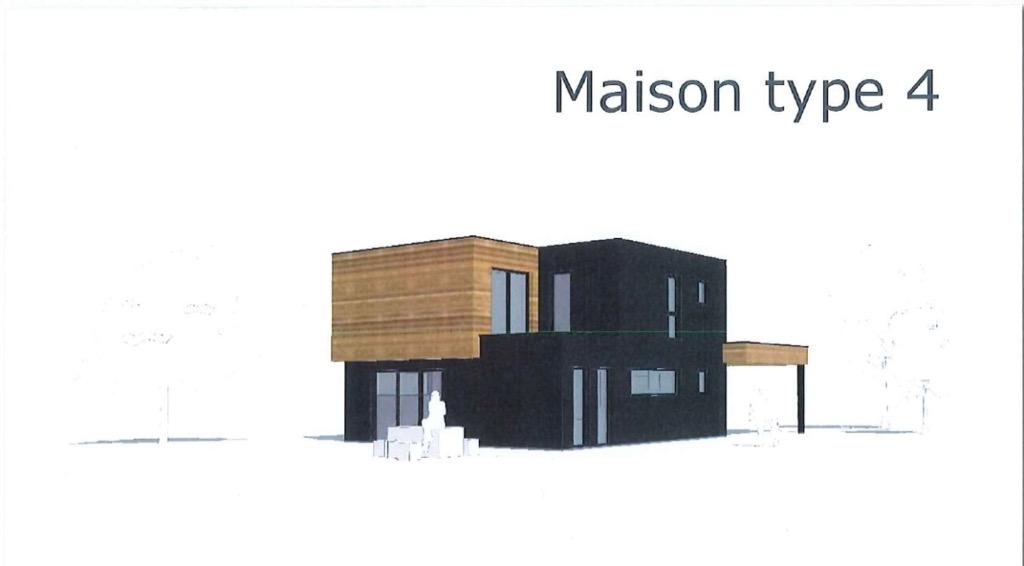 Maison type 4 contemporaine ossature bois
