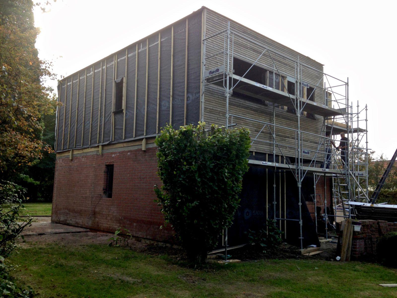 Extension d'étage en bois