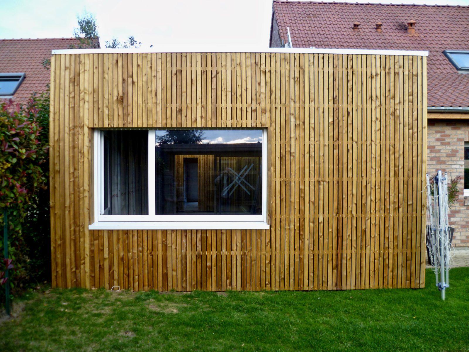 extension en bois ajoure et Trespa 2