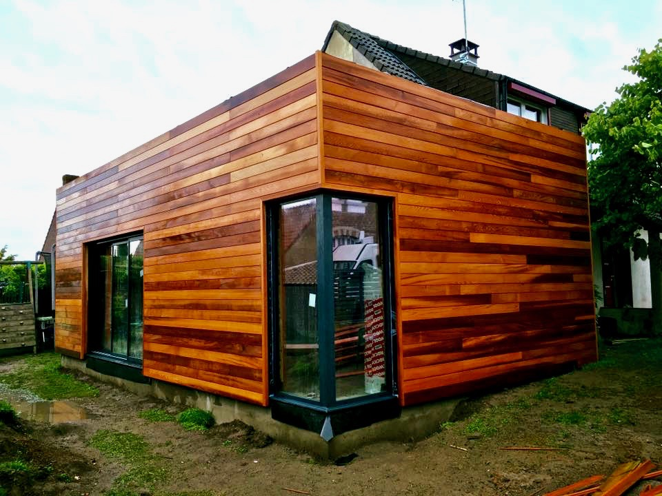 Extension en bois tropical