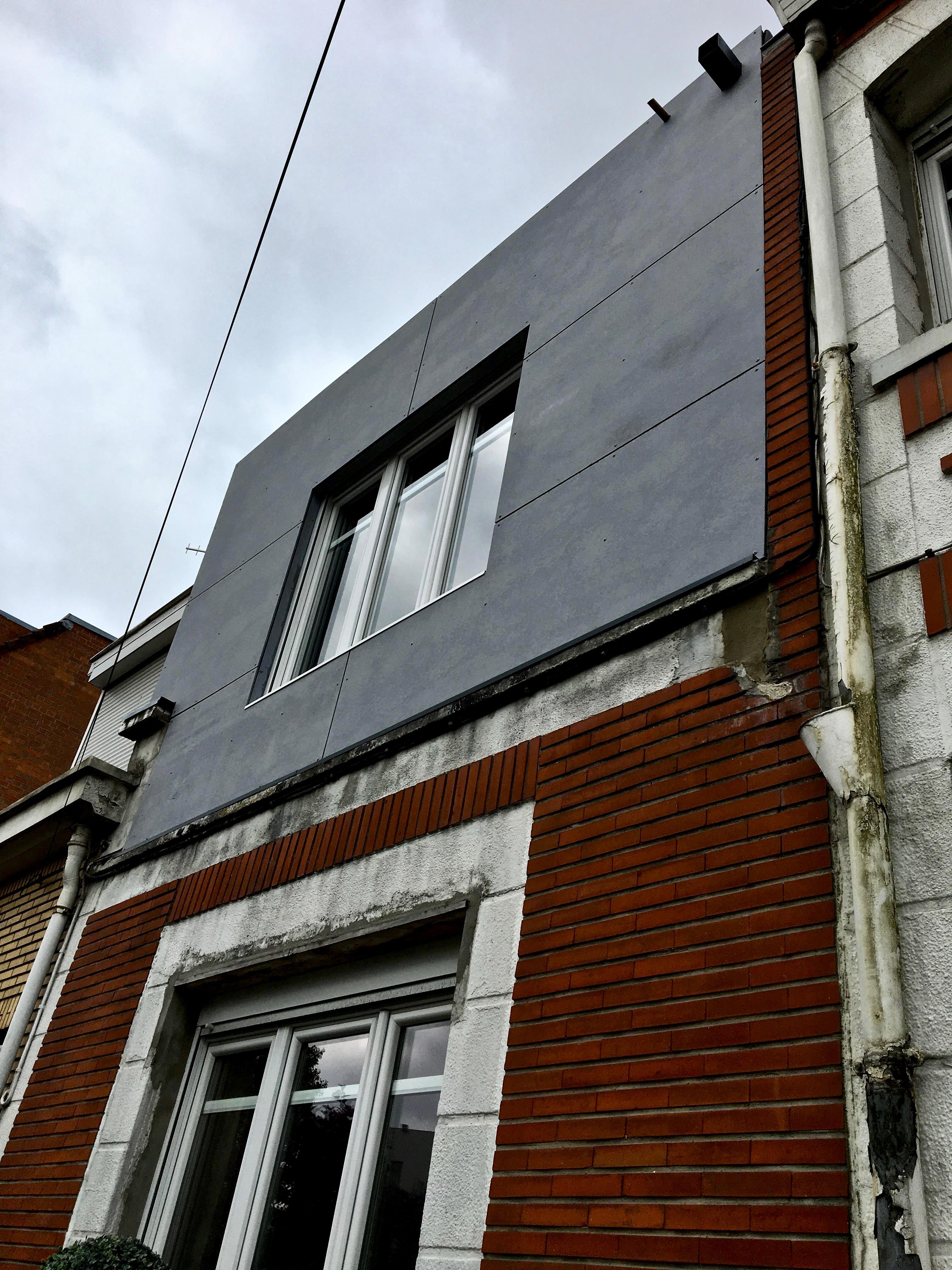 extension en composite et Trespa sur maison mitoyenne