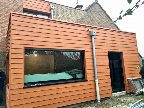 extension en composite sur maison traditionnelle