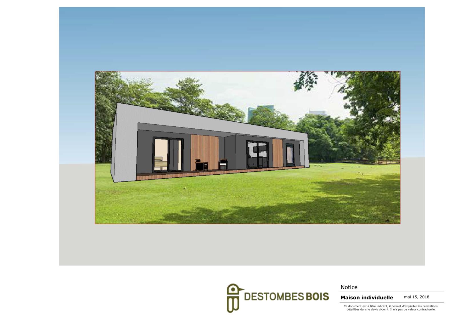 maison contemporaine avec terrasse couverte (glissé(e)s)