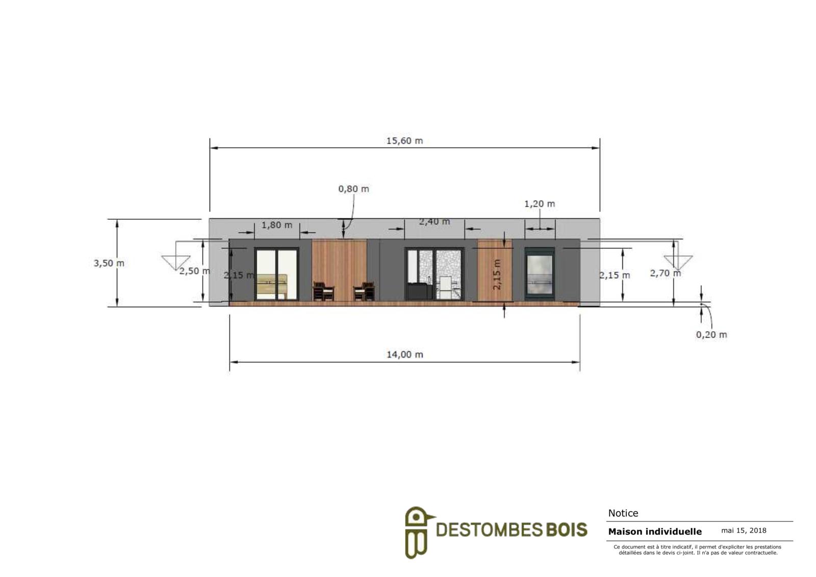 maison contemporaine avec terrasse couverte (glissé(e)s) 2