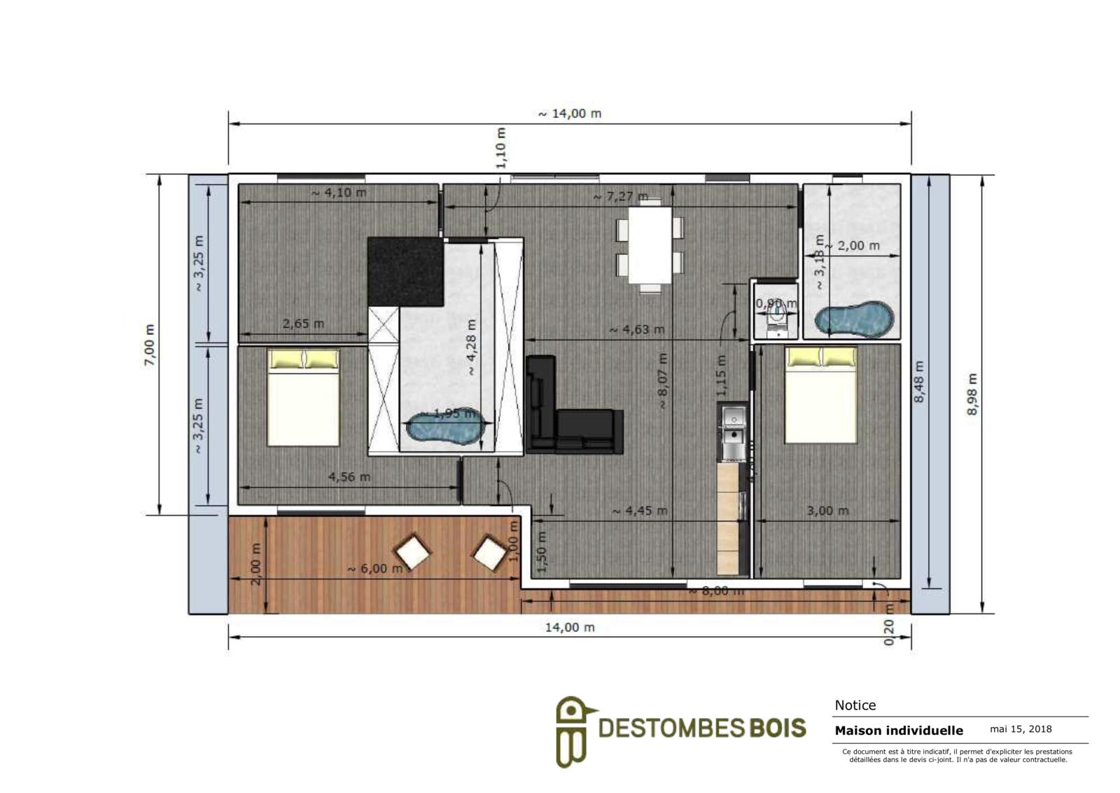 maison contemporaine avec terrasse couverte (glissé(e)s) 3