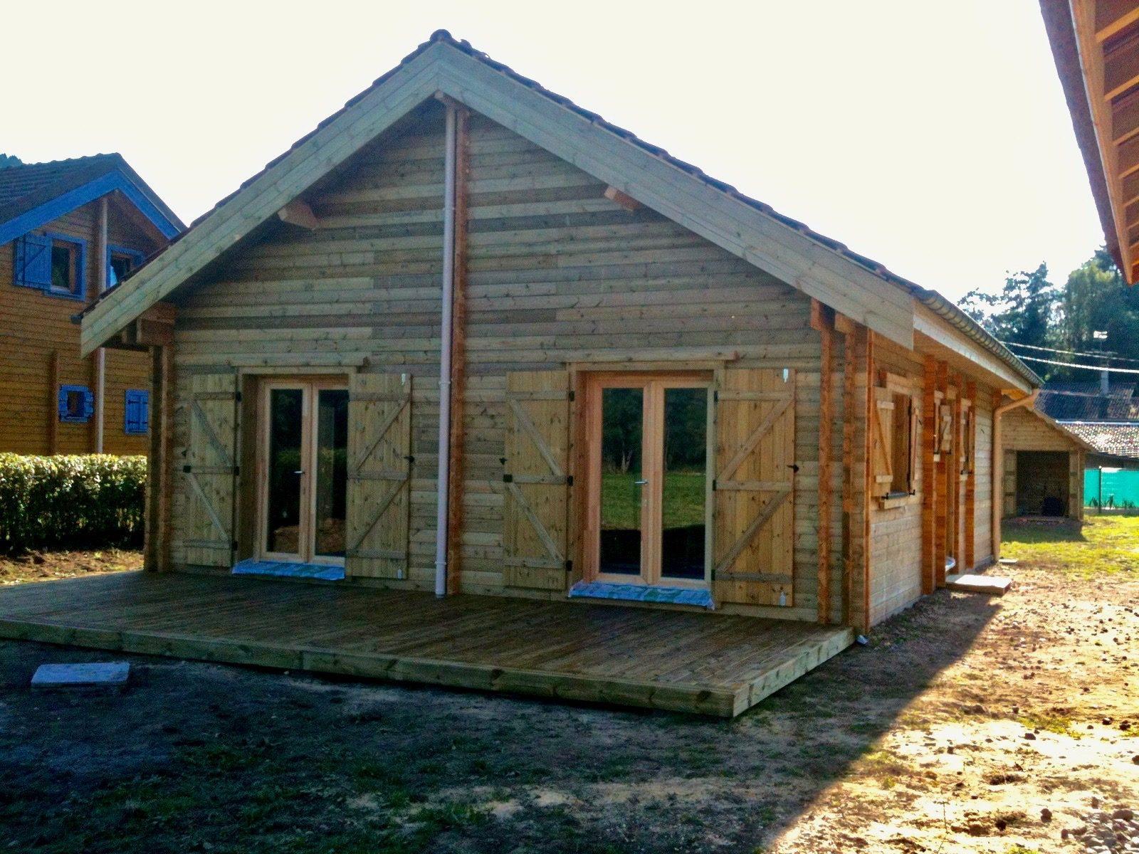 maison en madrier montagnarde traditionnelle 1