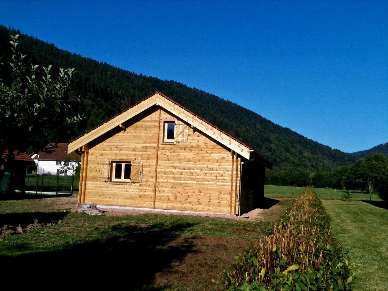 maison en madrier montagnarde traditionnelle 4