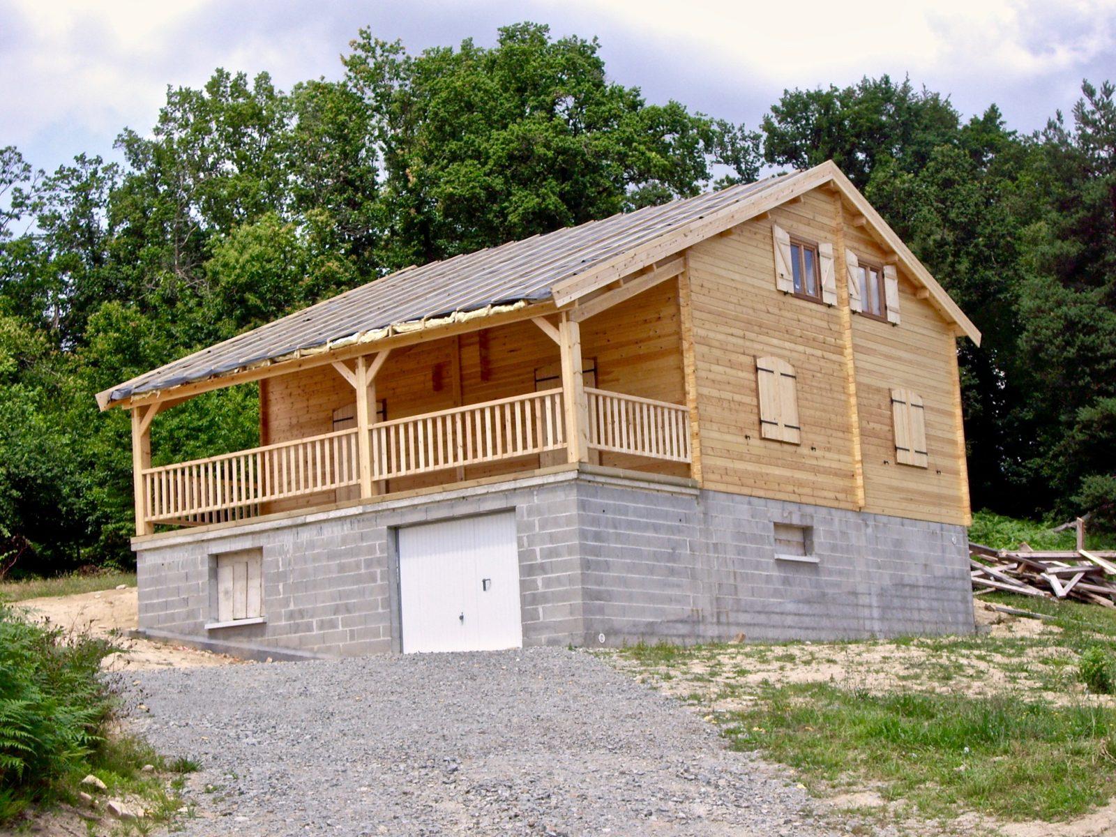 maison en madrier montagnarde1