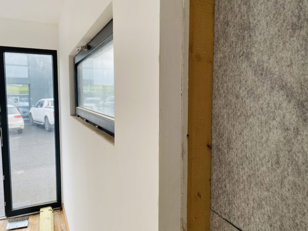 exemple placo plâtre sur une ossature en bois